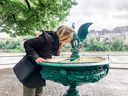 Drinking from the baselisk fountain