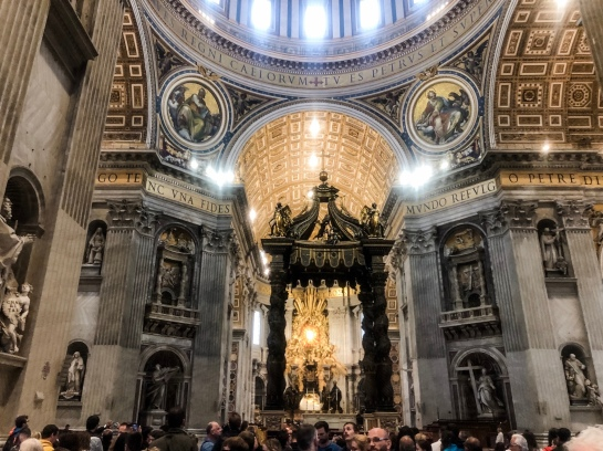 The Baldachin inside St. Peter's Basilica